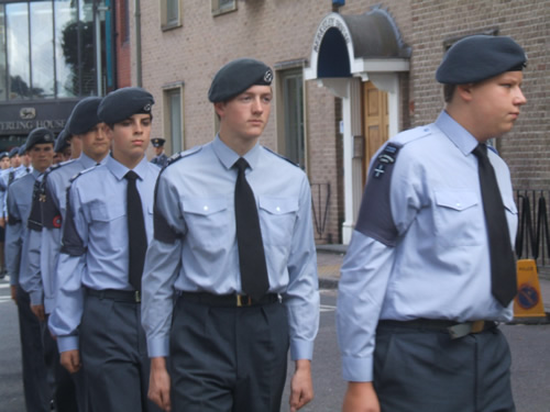 Cadets in the Best Blue Uniform